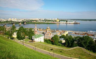 Beautiful Nizhny Novgorod in the early summer morning
