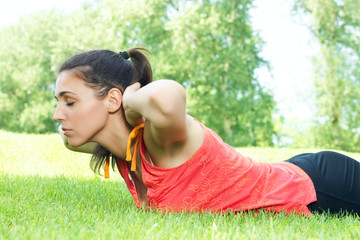 fitness woman exercise outdoors