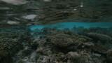 Semi-underwater video of tropical island, Maldive poster