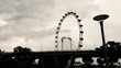 High contrast time lapse of Singapore ferris wheel