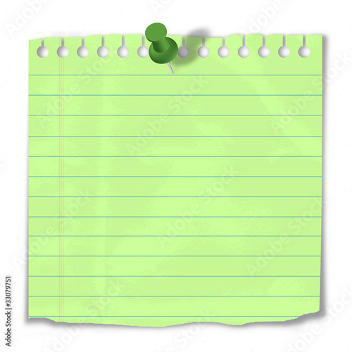 Paper pinned to Notice Board (post it reminder to do list)