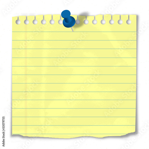 Paper Pinned To Notice Board Post It Reminder To Do List