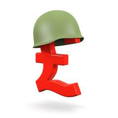 3d Military budget Pound symbol
