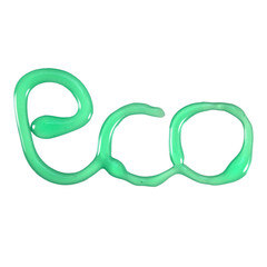 Eco word liquid texture