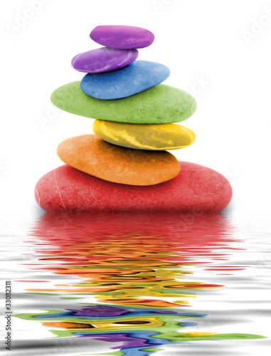 Leinwandbilder,zen,Regenbogen,backstein,zusammen