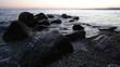 Mediterranean sunset and rocks