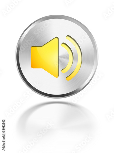 button aqua icon sound