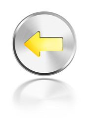button aqua icon pfeil links