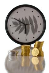 Euro coin on white background