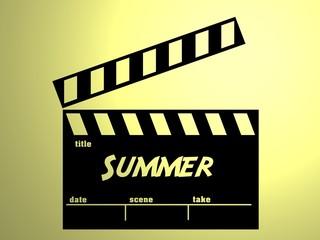 Summer slate, claqueta verano.