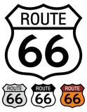 Route 66 highway sign.
