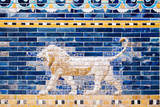 Fototapety Detail of a Lion on a Babylonian city wall