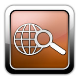 "Bronze Glossy Square Icon ""Search"""