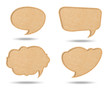 Four Style of Retro speech bubbles from Recycle Paper