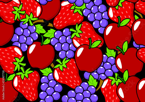Seamless pattern of fruits