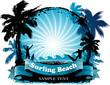 Surfing beach background