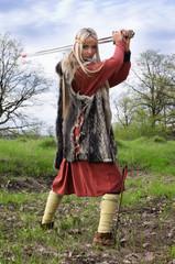 Viking girl warrior