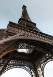 The Eiffel Tower - main landmark in Paris. France. poster
