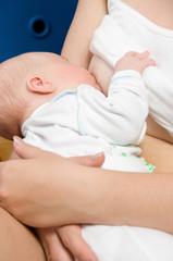 nursing newborn