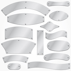 vector metal plates set singboard