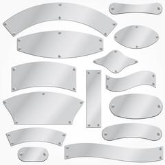 vector metal plates set singboard