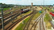 train station, timelapse