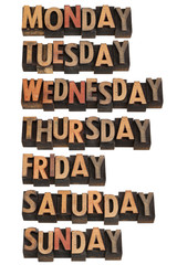 seven days of week