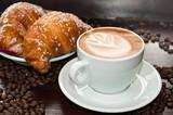 Fototapeta śniadanie - kawa - Ciastka / Torty