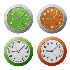 Wall clock recycled paper craft