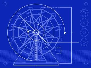 Ferris wheel blueprint