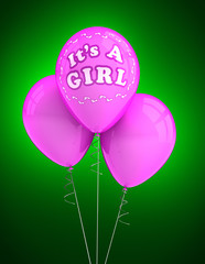 It's a girl party balloons