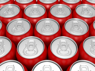 aluminium red beer cans