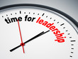 time for leadership