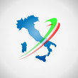 Logo Italy with orbit # Vector