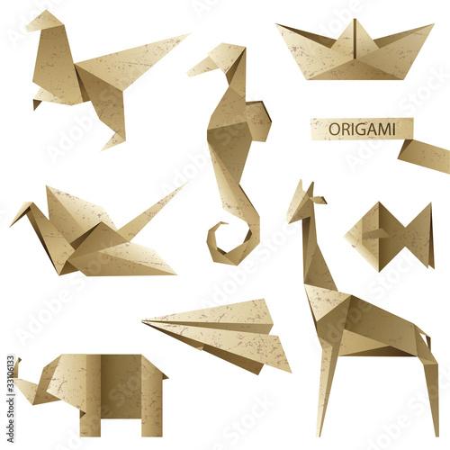 """""""u9b5a""""]传统动物工艺广场形状复古折纸插图收集文件文化日语纸板组"""