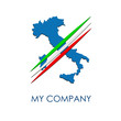 Logo Italy on the move # Vector