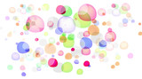 abstract color bubble isolated on white background