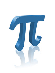 """PI"" (constant mathematics science number greek symbol 3d image)"