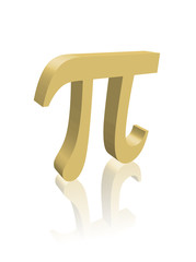"""PI"" (number constant mathematics science greek symbol 3d image)"