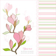 Greeting card with magnolia flowers