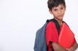 Unimpressed schoolboy