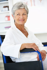 Senior woman patient