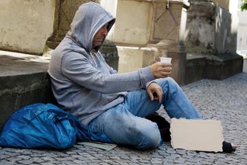 Arbeitsloser sucht Arbeit