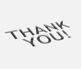 vector thank you text  design