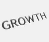 vector growth text design