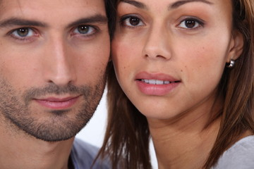Close-up portrait of a couple