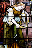 Stained Glass Window of a Woman