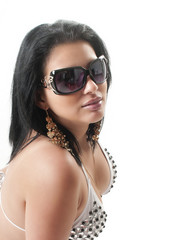 young beautiful girl with sunglasses