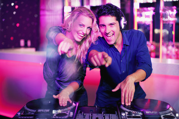 DJs in nightclub