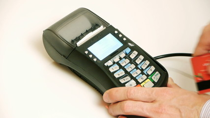 HD - Credit Card Terminal prints a check of purchase